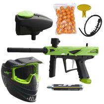 JT E-Icon Paintball Gun Mega Pack Neon Green