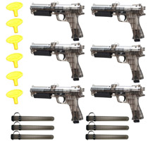 JT ER2 Pump Pistol Paintball Gun Refurbished Six Pack