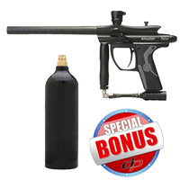 Kingman Spyder Fenix Paintball Gun Diamond Black with FREE 20 oz Co2 Tank
