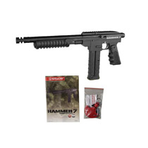 Kingman Spyder Hammer 7 Paintball Marker - Diamond Black