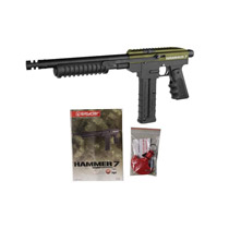 Kingman Spyder Hammer 7 Paintball Marker -  Olive Green