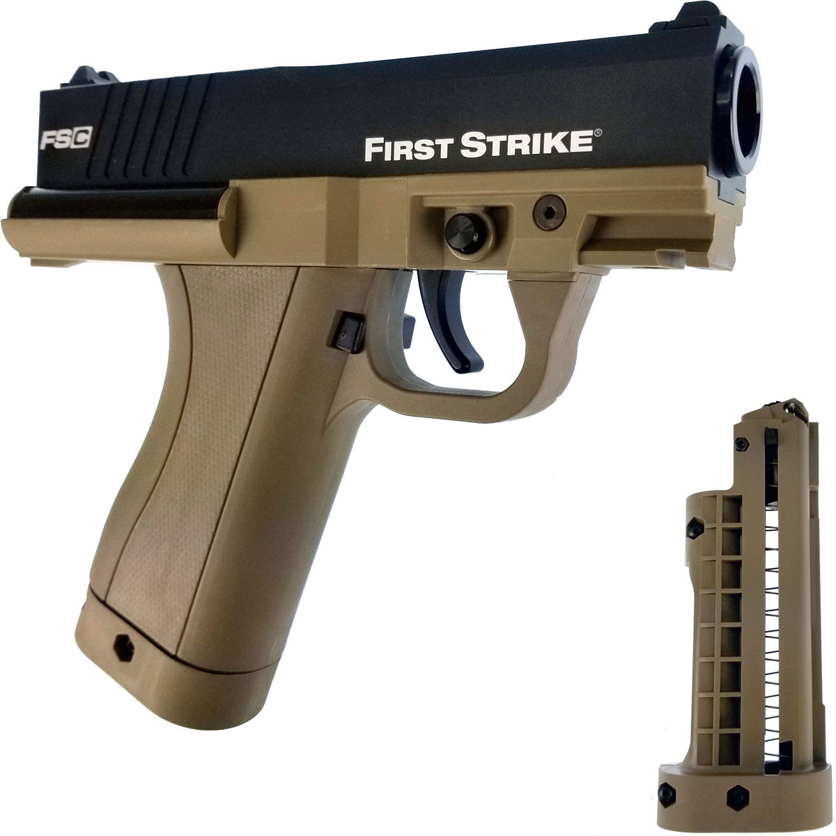 First Strike FSC Compact Paintball Pistol FDE