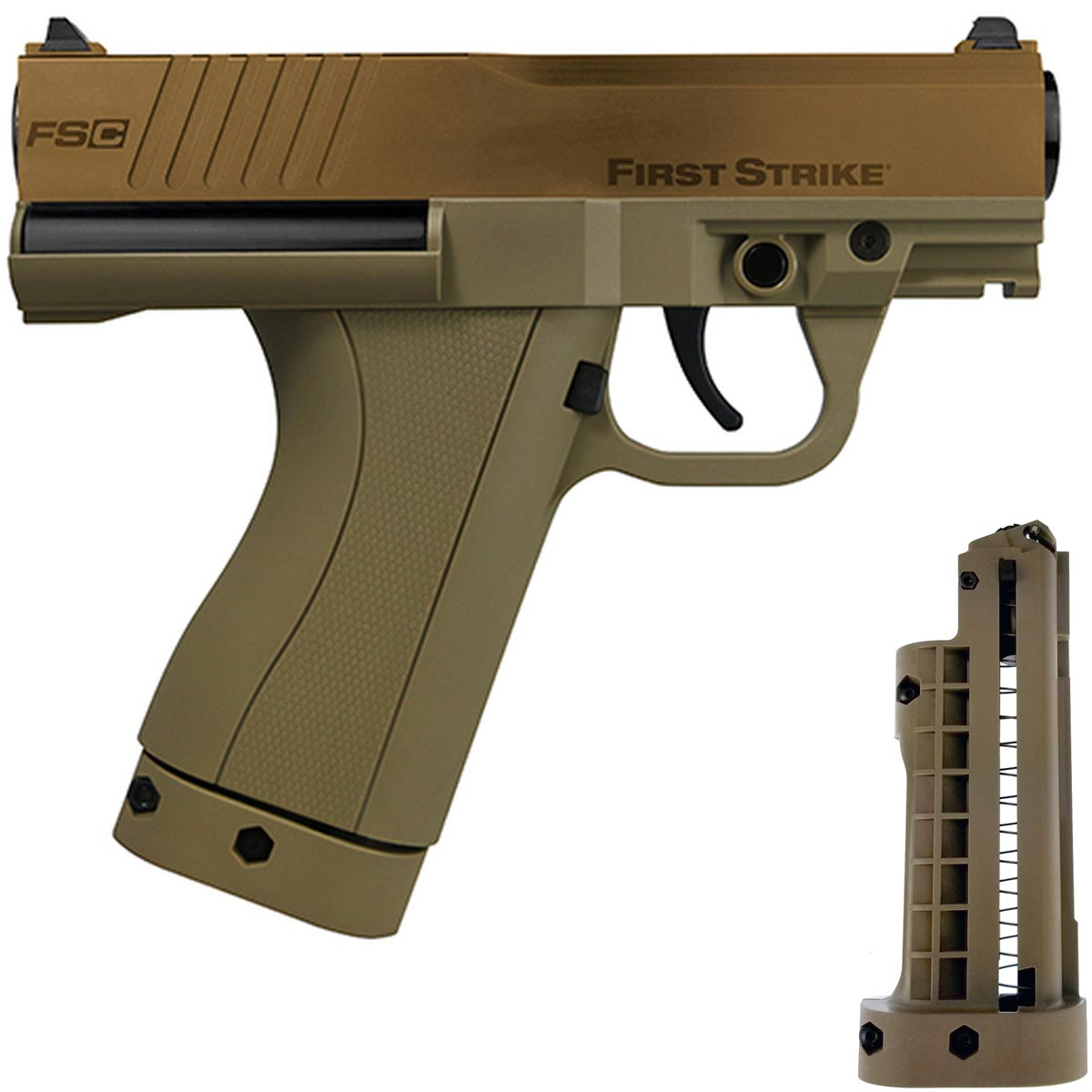 First Strike FSC Compact Paintball Pistol Bronze Tan LE
