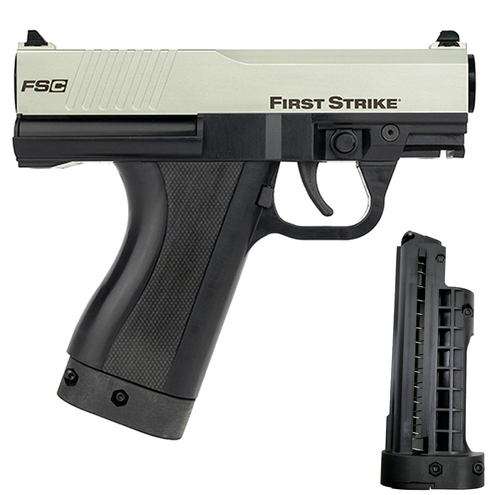 First Strike FSC Compact Paintball Pistol Silver Black