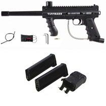Tippmann 98 Custom Platinum Series Paintball Gun Dual Feed 2 Magazines