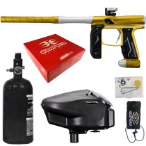 Empire Axe 2.0 Paintball Marker Dust Gold Dust Silver Rookie Package