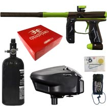 Empire Axe 2.0 Paintball Marker Dust Brown Dust Green Rookie Package