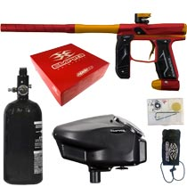 Empire Axe 2.0 Paintball Marker Dust Red Dust Orange Rookie Package