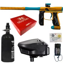 Empire Axe 2.0 Paintball Marker Dust Orange Dust Aqua Rookie Package