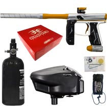 Empire Axe 2.0 Paintball Marker Dust Silver Dust Gold Rookie Package