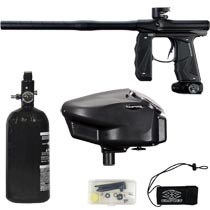Empire Mini GS Paintball Gun Black Dust w 2 PC Barrel Rookie Package