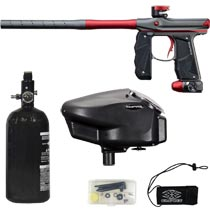 Empire Mini GS Paintball Marker Grey / Red Dust w 2 PC Barrel Rookie Package