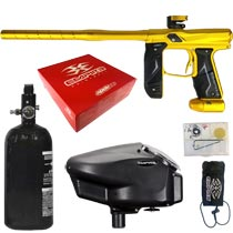 Empire Axe 2.0 Paintball Marker Dust Gold Rookie Package