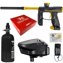 Empire Axe 2.0 Paintball Marker Dust Black Dust Gold Rookie Package
