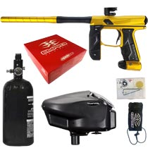 Empire Axe 2.0 Paintball Marker Dust Gold Dust Black Rookie Package