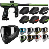 Empire Axe 2.0 Paintball Marker Combo - Dust Black/Dust Green