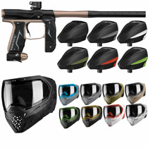 Empire Axe 2.0 Paintball Marker Combo - Black/Dust Tan