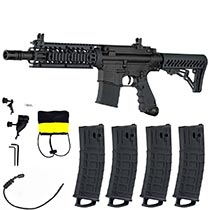 Tippmann TMC Magfed Paintball Marker Milsim Combo with 4 Magazines Black