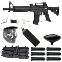 Tippmann US Army Alpha Black Elite Paintball Starter Package