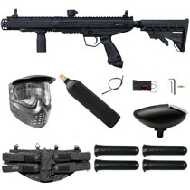 Tippmann Stormer Tactical Paintball Marker Black Starter Package