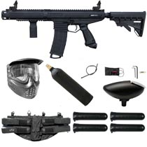 Tippmann Stormer Elite Dual Feed Paintball Marker Black Starter Package
