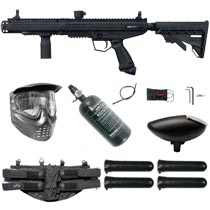 Tippmann Stormer Tactical Paintball Marker Black Rookie Package