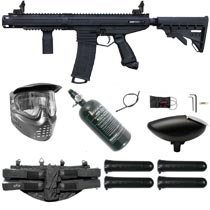Tippmann Stormer Elite Dual Feed Paintball Marker Black Rookie Package
