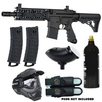 Tippmann TMC Magfed Paintball Marker Milsim Entry Package Black 2019