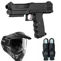 Tippmann TiPX Paintball Pistol Entry Package - Black