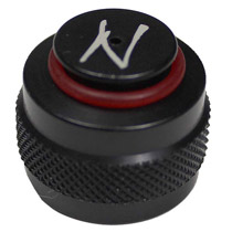 Ninja Aluminum Paintball Thread Protector Black w/O-Ring
