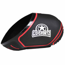 GI Sportz Paintball Tank Cover Black Red 68ci 70ci 72ci