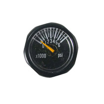 Invert Micro Gas Gauge 6000 PSI - Black
