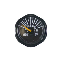 Invert Micro Gas Gauge 1200 PSI - Black