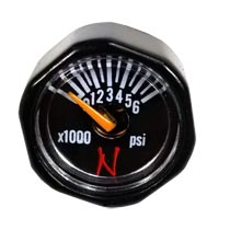 Ninja 6000 psi Nano Mini Gauge Black