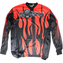 Paintball Junkies Bob Long Ironmen Jersey Red/Black XLarge