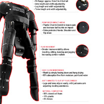 Tippmann Zombie Paintball Armor Padded Suit