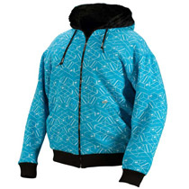 Empire 2010 Chalk Reversible Hoodie Blue - Large