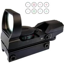 TSI Optics 1x33 Reflex Sight 4 Recticle Red/Green Picatinny 20mm Mount