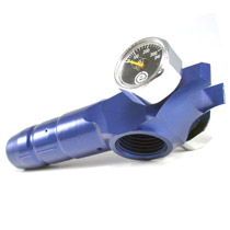 Evil Shocker LPR Low Pressure Regulator Blue Polished