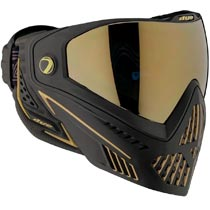 Dye I5 Paintball Mask Onyx Black/Gold 2.0