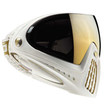 Dye I4 Thermal Paintball Goggles - White/Gold