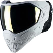 Empire EVS Paintball Mask White Gold with Extra Lens