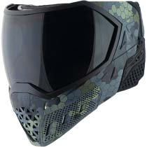Empire EVS Paintball Mask Hex Camo Black with Extra Lens