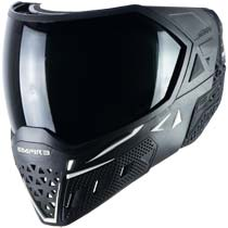 Empire EVS Paintball Mask Black White with Extra Lens