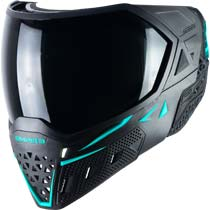 Empire EVS Paintball Mask Black Aqua with Extra Lens