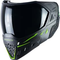 Empire EVS Paintball Mask Black Lime Green with Extra Lens