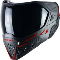 Empire EVS Paintball Mask Black Red with Extra Lens