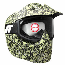 JT Elite Alpha Limited Edition Single Lens Paintball Goggles Olive Skull