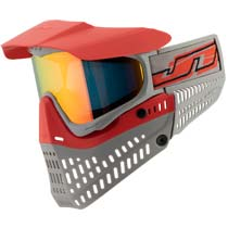 JT Proflex LE Thermal Paintball Goggles Red Grey