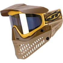 JT Proflex LE Thermal Paintball Goggles Brown Tan Gold Mirror